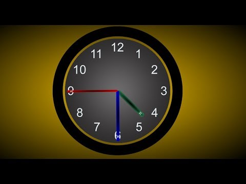 Rotating Clock CSS3 Animation | HTML CSS