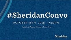 #SheridanConvo: Wednesday, October 16, 2019, 7:30 p.m.