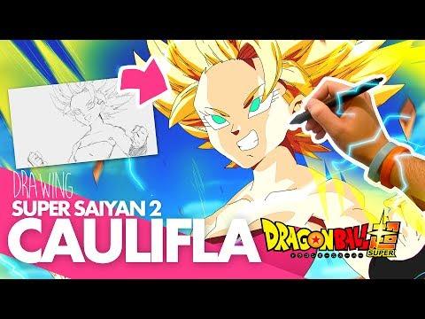 DRAWING CAULIFLA SUPER SAIYAN 2! Drawing With Moxie (Dragon Ball Super)