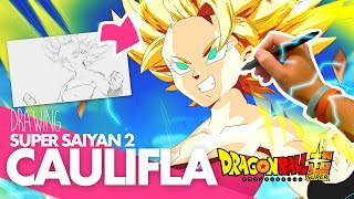 DRAWING CAULIFLA SUPER SAIYAN 2! Drawing with Moxie (Dragon Ball Super)