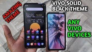 Vivo solid black theme any vivo devices amazing theme [HINDI]