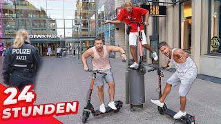 Wer bleibt am längsten AUF E-Scooter? (Durch die ganze Stadt!)
