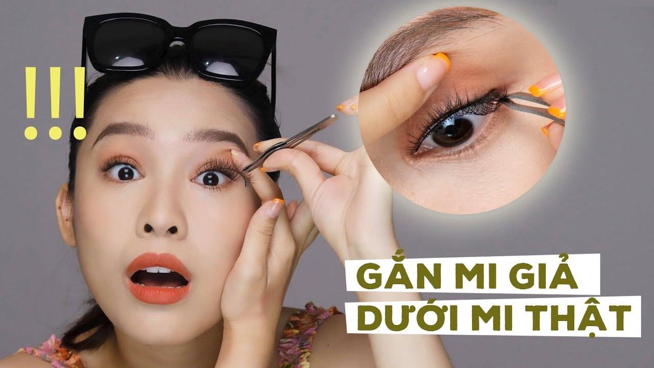 How To Apply False Eyelashes Under Natural Eyelashes? Gắn Mi Giả Dưới Mi Thật? |Quach Anh [ ENGsub]