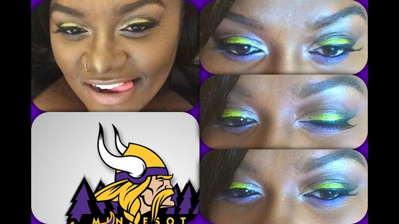 Minnesota Vikings Inspired Makeup Youtube