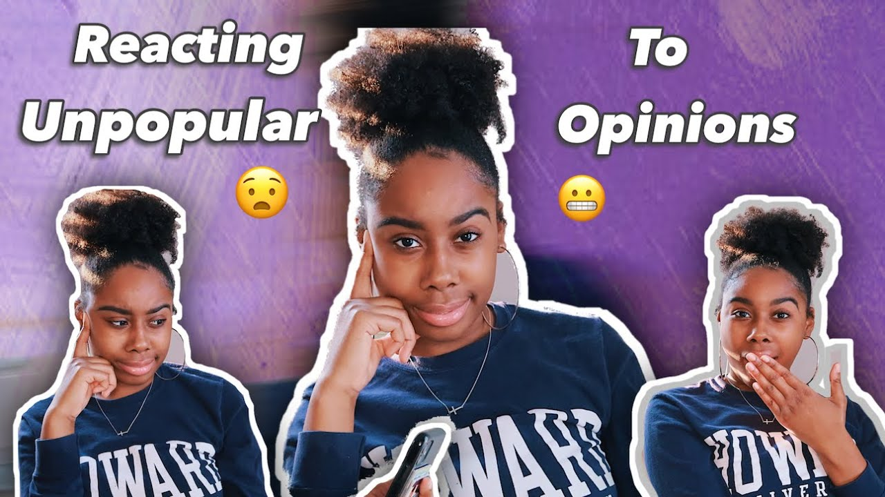 Reacting To My Followers Unpopular Opinions
