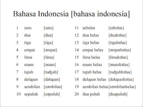 Indonesian numbers 1 20 youtube indonesian numbers 1 20 m4hsunfo Choice Image