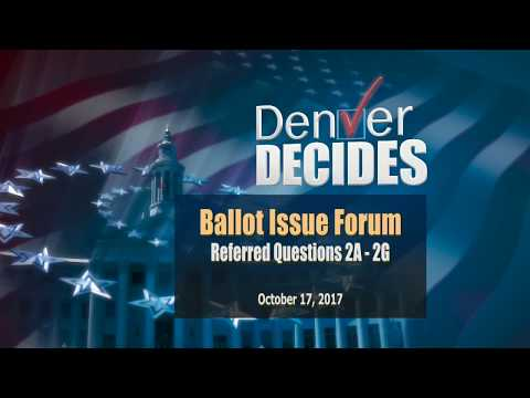 Ballot Issue Forum: Referred Questions 2A-2G - GO Bonds