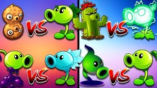 Plants vs Zombies 2 All Mixing Free vs Premium Plants Walkthrough with Battle and Hard Zombies