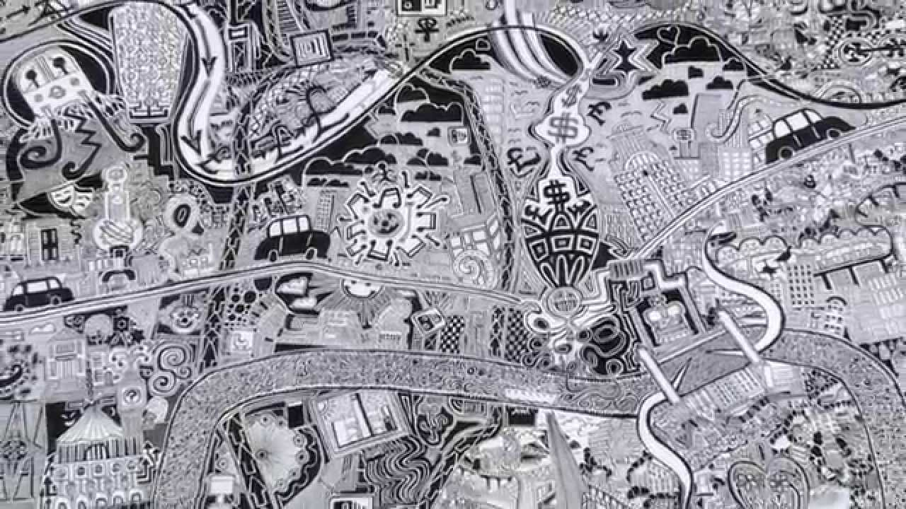 London Town Map.London Town Map Art Drawing By Fuller