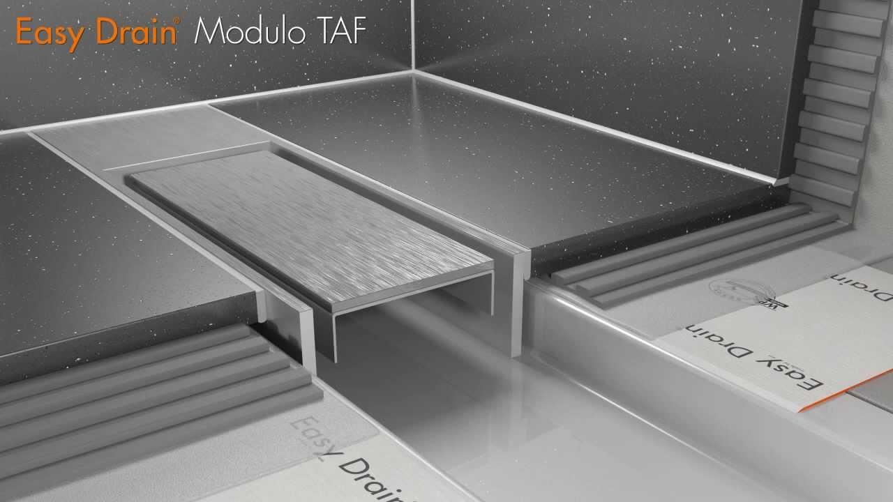 Badkamer Showroom Wijchen ~ Douchegoot plaatsen  Easy Drain Compact Modulo TAF met secundair