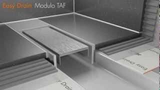 Douchegoot plaatsen - Easy Drain Compact/Modulo TAF met secundair afwatering (Nederlands)