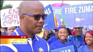 UPDATE: Parties march in support of the call for President Zuma to step down