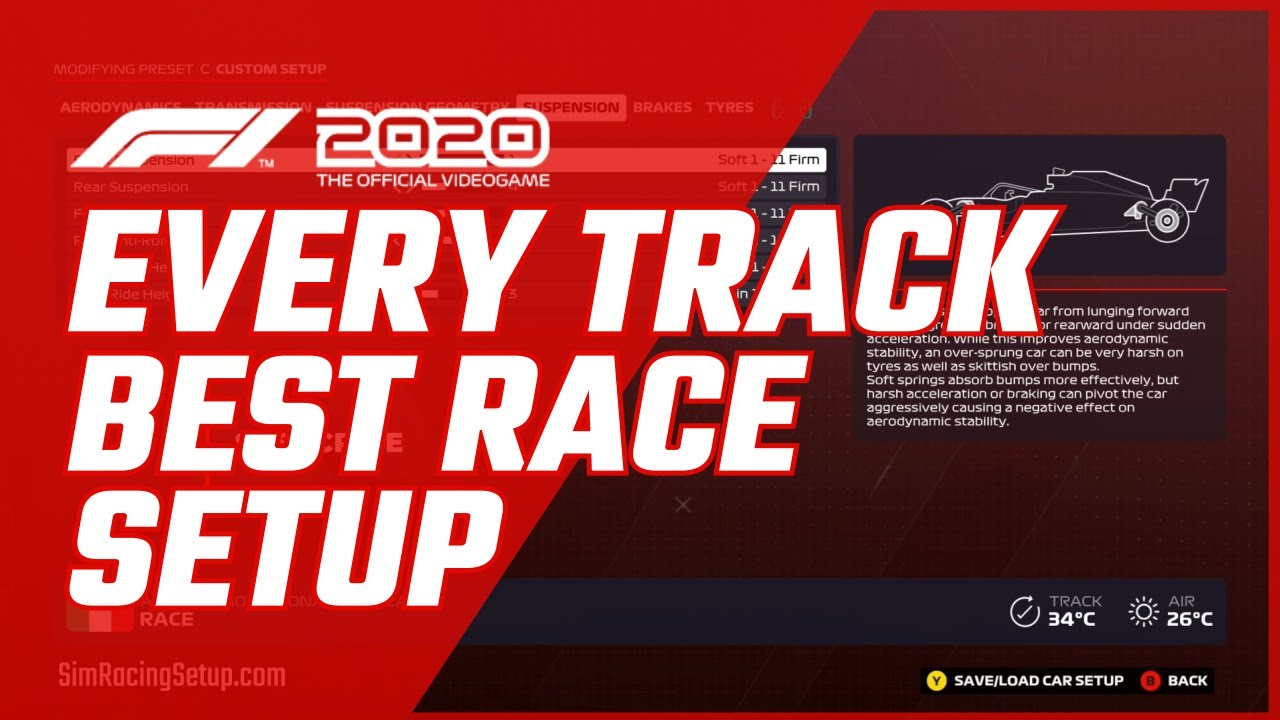 Video: F1 2020 Every Track Race Setup