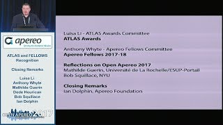 Apereo 2017 -- ATLAS and FELLOWS Recognition :: Closing Remarks thumbnail