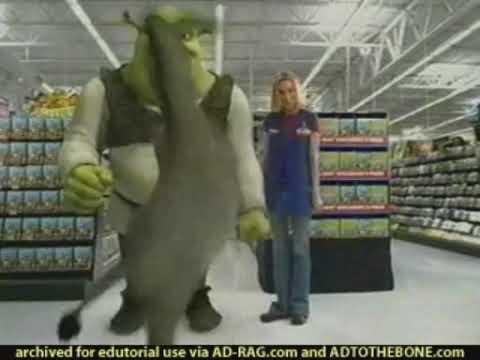 Wal Mart Shrek 2 Dvd Commercial 2004 Youtube