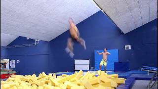 Trampoline to Uneven Bar Challenge - Gymnastic Skills