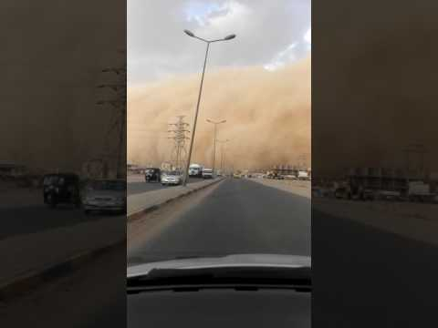 Dust storm in Khartoum 1 June 2017