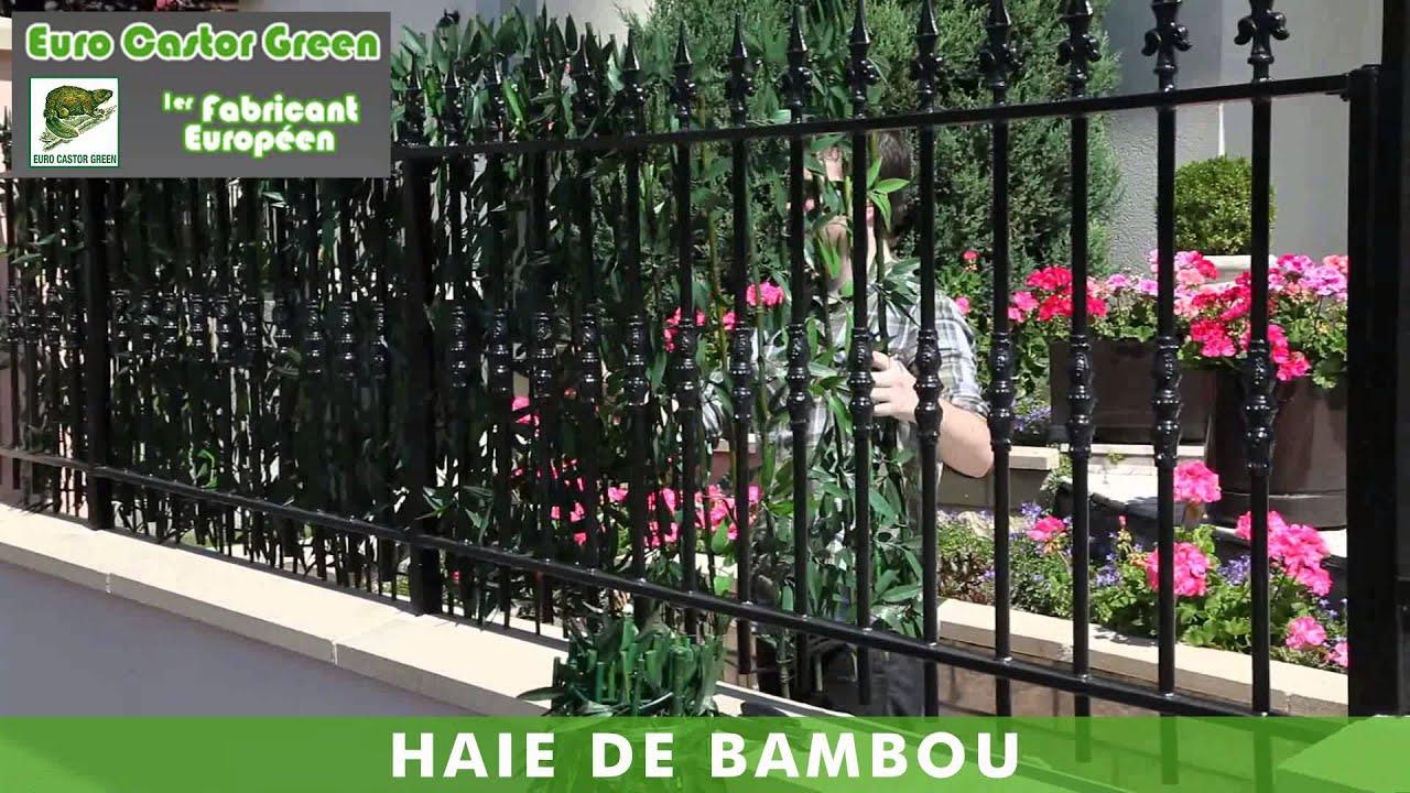 haie de bambou haie artificielle brise vue occultant gazon artificiel gazon youtube. Black Bedroom Furniture Sets. Home Design Ideas
