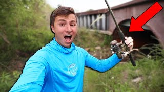 WE Found FREE Rod And Reel While FISHING (CRAZY!)