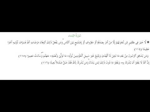 SURAH AN-NISA #AYAT 114-116: 3rd June 2020