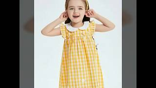 Latest comfortable summer baby frocks easy stitch at home