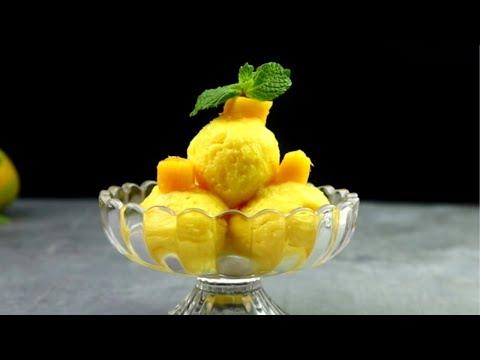 mango-ice-cream-recipe-||-homemade-ice-cream-(only-3-ingredients)-|-no-ice-cream-machine-||-no-eggs
