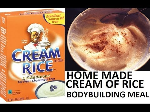 How To Make Cream Of Rice Cereal: Gluten Free Cereal: Bodybuilding Meal