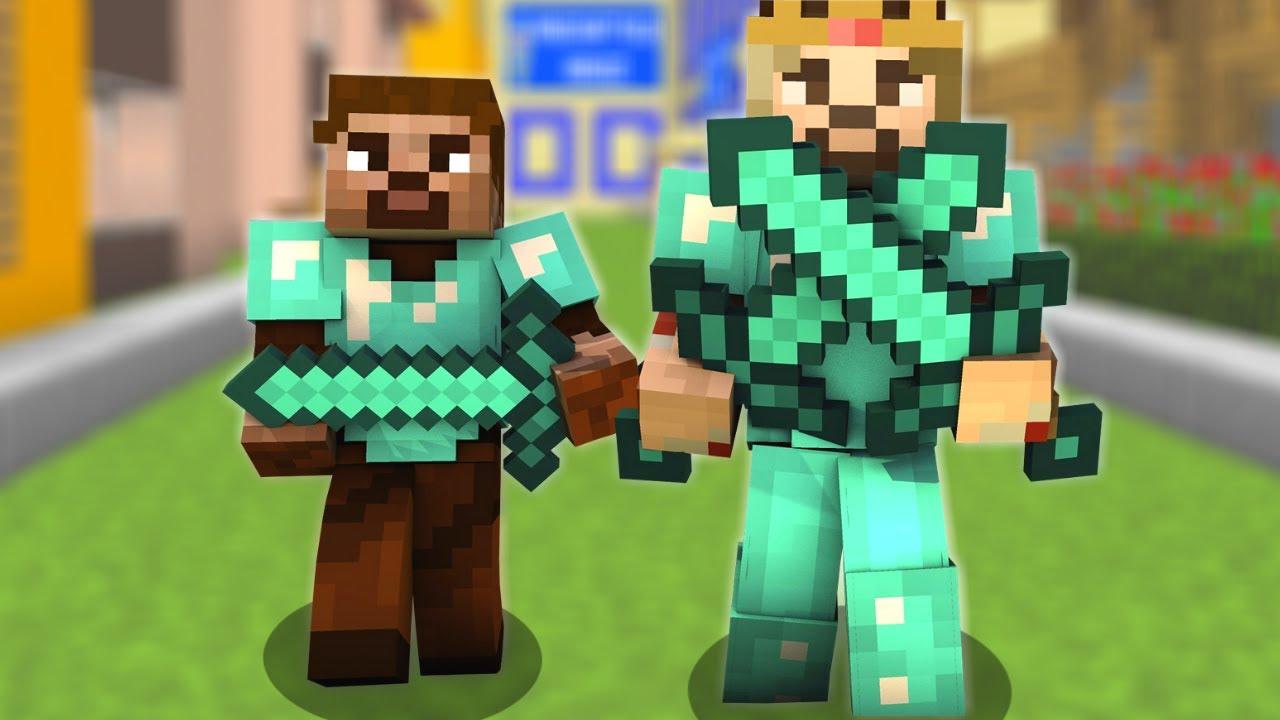 Zengin Ve Fakir Sehre Baskin Yapiyor Minecraft Youtube
