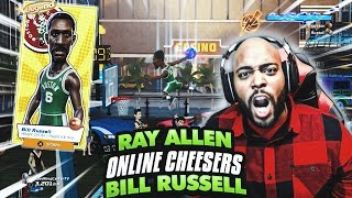 BEST DUO FOR ONLINE MATCHES! RAY ALLEN & BILL RUSSELL SAVE ME! NBA Playgrounds Online Gameplay Ep. 5