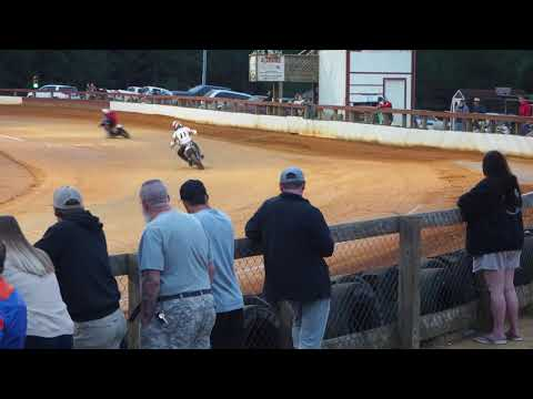 50+ Heat race Coleridge NC. - dirt track racing video image