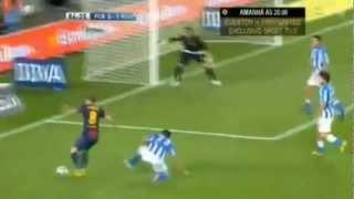 David Villa Return (FC Barcelona- Real Sociedad San Sebastian 5-1) comeback