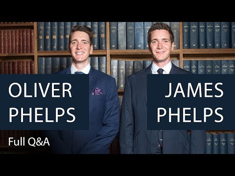 Oliver and James Phelps | Full Q&A | Oxford Union
