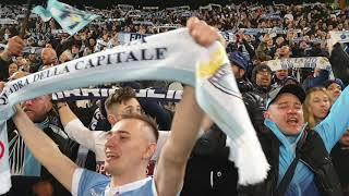 Лацио Рома 3-0 , 2 марта 2019, болельщики поют гимн Лацио после победы