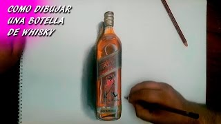 Como Dibujar una Botella de Whisky | How to draw a bottle of whiskey