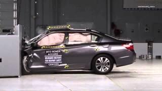 2013 Honda Accord Highway Safety Test Crash