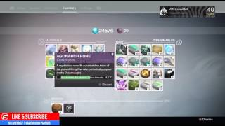 Destiny How to FULLY Charge Your AGONARCH RUNE in ONE DAY
