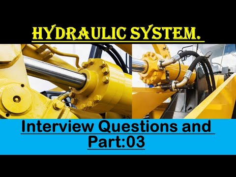 Hydraulic System Interview Questions and Answers || Mechanical interview questions.