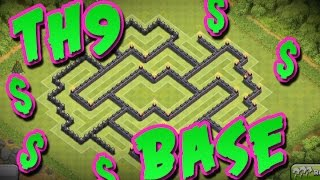 Epic TH9 Money Base |  Farming Base |  Clash of Clans