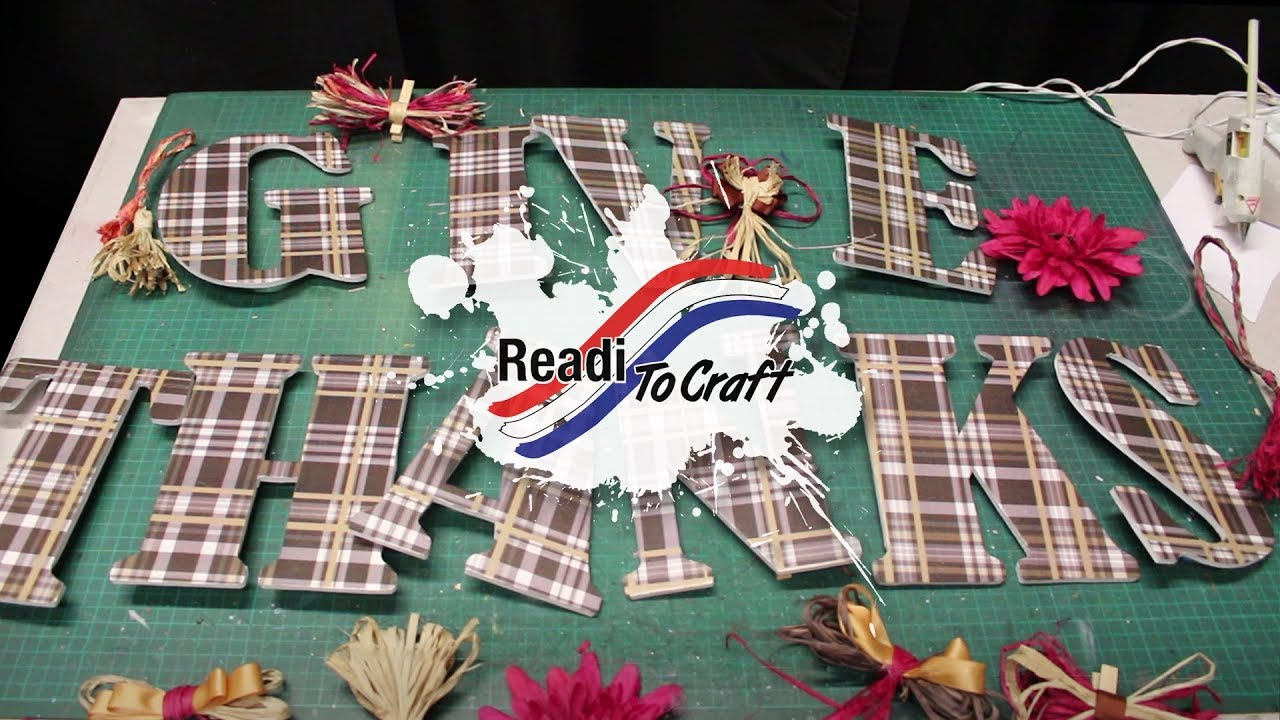 Readi to Craft: Give Thanks Banner