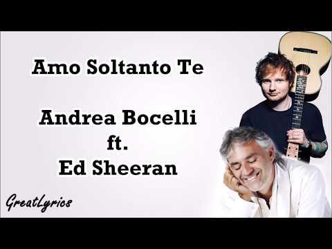 Andrea Bocelli - Amo soltanto te (Lyrics & Translate) ft. Ed Sheeran Mp3