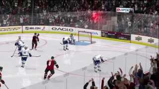 NHL 10 - Wild vs Canucks Gameplay Period 2