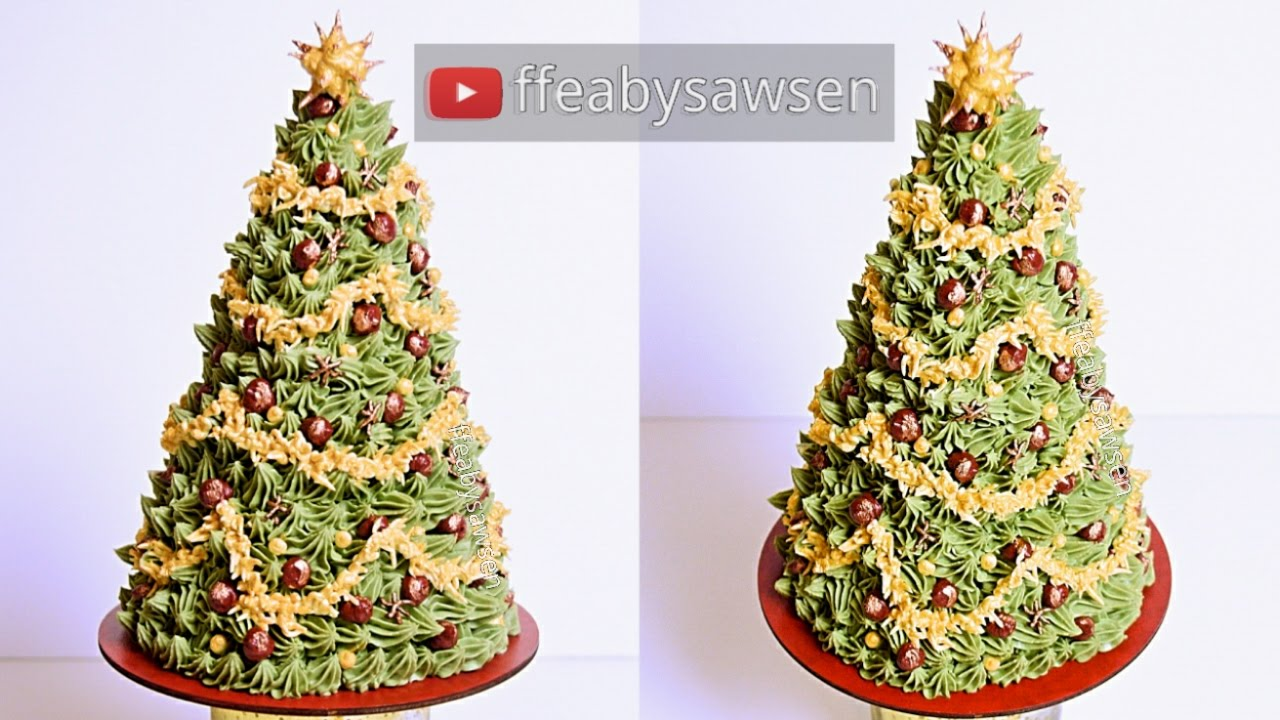 Where Did Christmas Trees Originate.3d Buttercream Christmas Tree Cake Tutorial Chocolate Cake