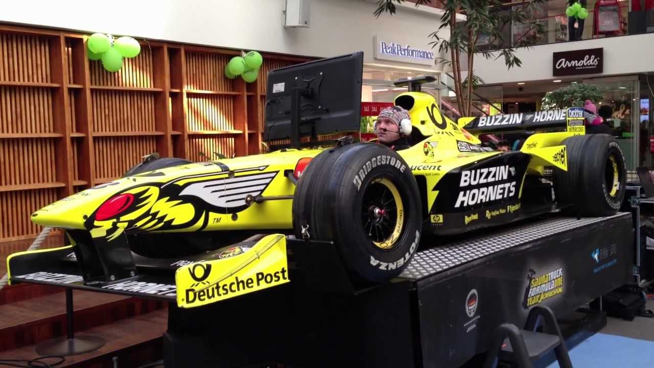 Oooo Car Wallpaper F1 Simulator With Real F1 Car Jordan F1 Youtube