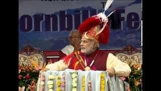 PM Narendra  Modi at Hombill Festival Kohima   PMO