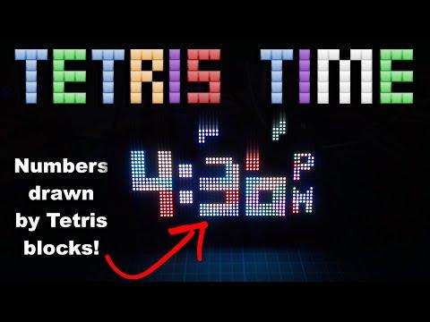 Tetris Clock Using An LED Matrix And An ESP32 (without RTC)