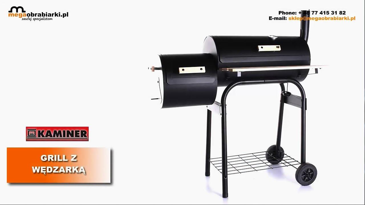 grill węglowy dwukomorowy wędzarka kaminer - youtube