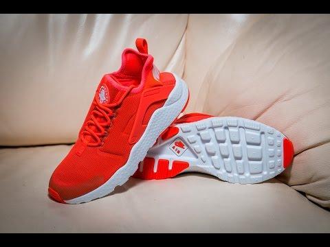 40b401b47e Nike Air Huarache Run Ultra Bright Crimson Red White - YouTube