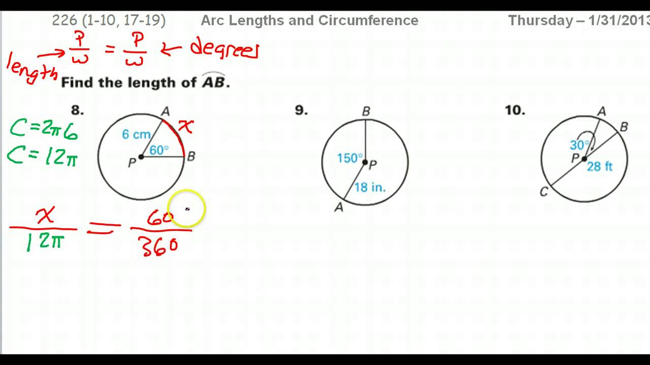 How to find the arc length given the radius and an angle youtube ccuart Images