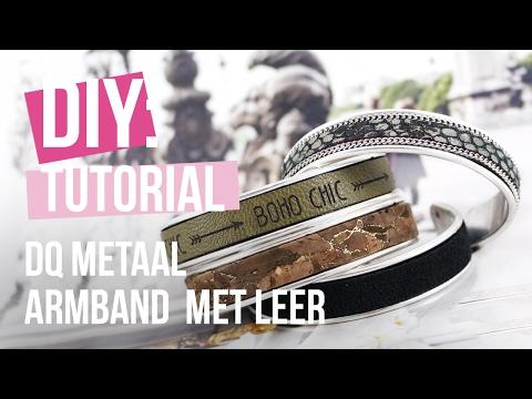 Sieraden maken: Armband van DQ metaal met 10 mm plat leer ♡ DIY