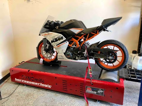 KTM RC390 Exhaust and dyno!